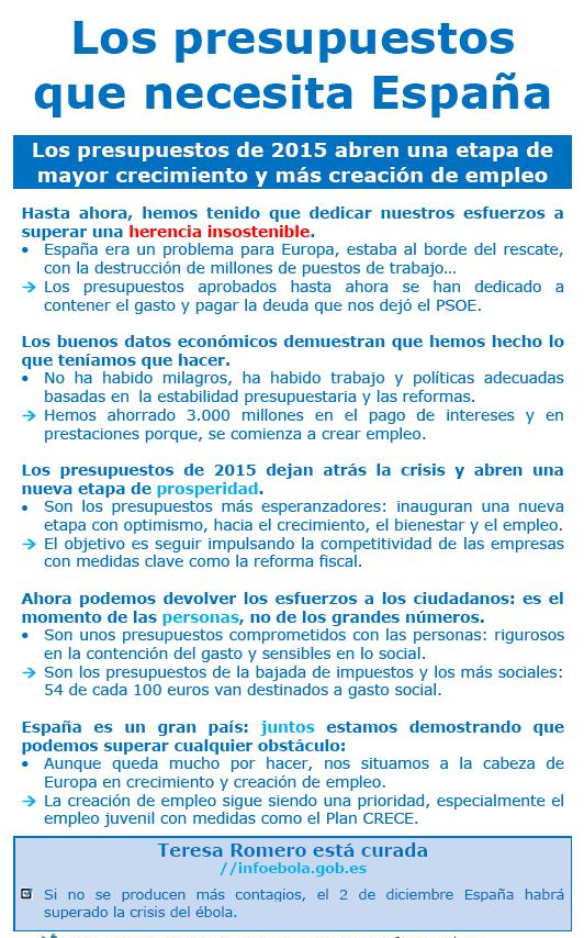 Los presupuestos que necesita España