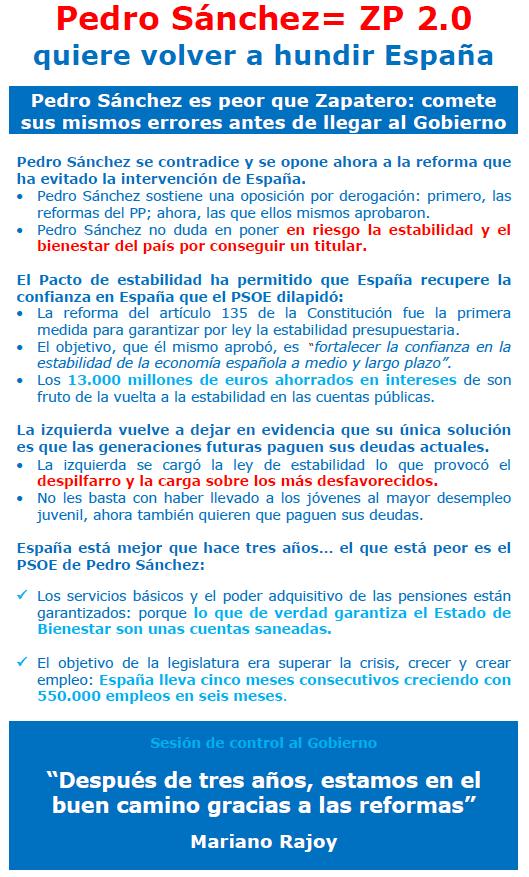 Pedro Sánchez = ZP 2.0
