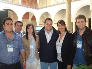 Jóvenes de Balazote con Paco Núñez, Presidente de la Diputación Provincial de Albacete