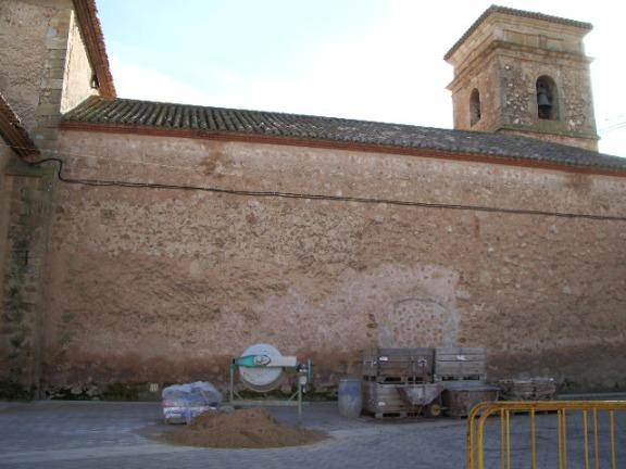 Obras en el tejado de la Iglesia de Balazote