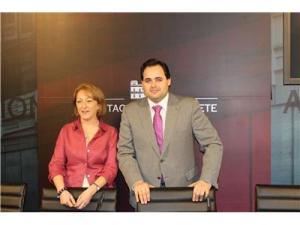 Francisco Núñez, Presidente de la Diputación de Albacete, y Maribel Serrano, Diputada provincial de la Mujer y Sanidad