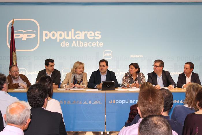 PP-CLM (Fotografía) Núñez preside la reunión de la Junta Directiva del PP de Albacete- 080613 (b)