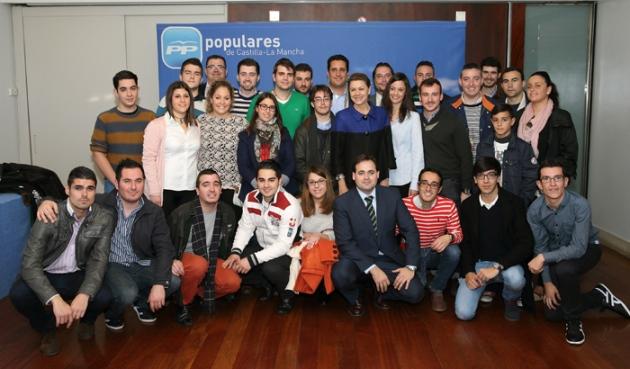 Cospedal Junta Directiva PP Albacete, con NN GG
