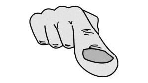a dedo