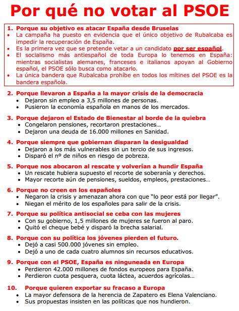 Por qué no votar al PSOE