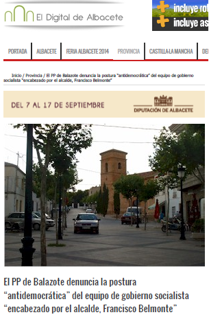 Noticia en el digital de Albacete