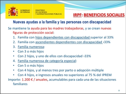 IRPF beneficios sociales