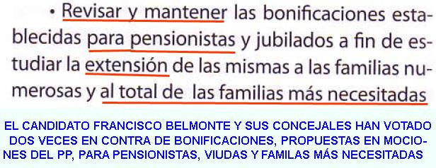 12. Bonificaciones de tasas para pensionistas y extensión a familias más necesitadas...
