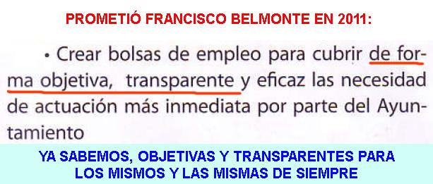 3. Bolsas de empleo objetivas y transparentes...