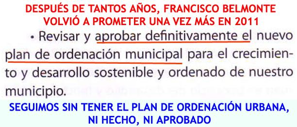 27. Aprobar el Plan de Ordenación Municipal...