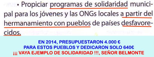 27. Programas solidaridad hermanamiento con pueblos desfavorecidos...