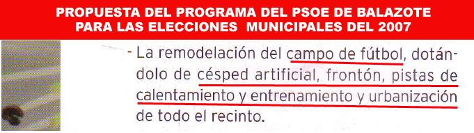 Propuesta psoe municipales 2007 campo fútbol