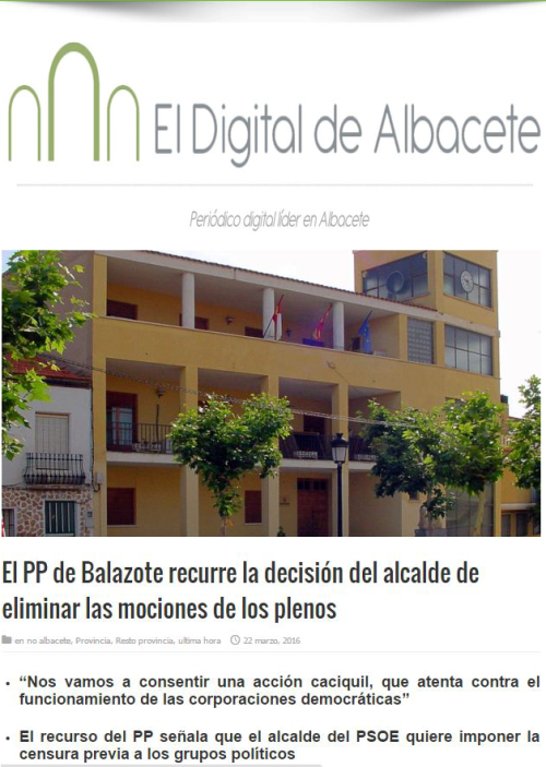 Noticia Digital actitud caciquil en los plenos